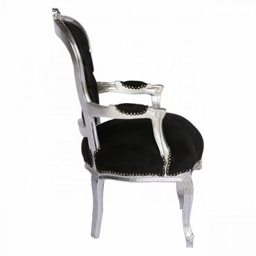 Modern dining chairs wood black velvet  – image 3