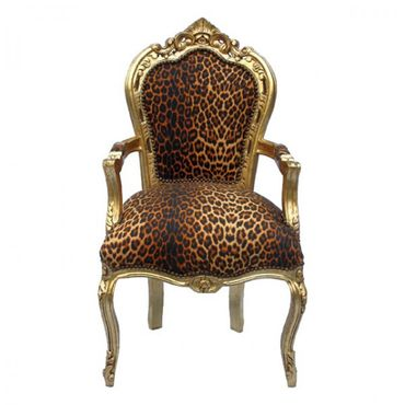 Leopard print carver dining chair for your dining table – image 1