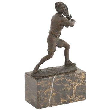 Tennis players sports figure bronze sculpture marble base cup Repro Gift – image 3