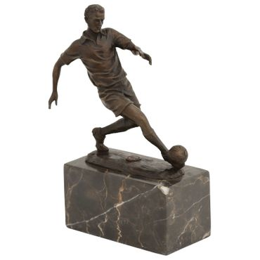 Footballer figure athlete Cup bronze antique-style football player – image 1