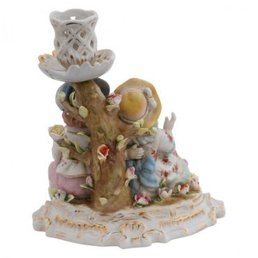 2 pairs porcelain candle holder figure 2 piece set tree – image 3