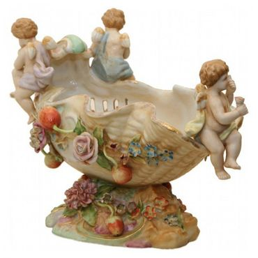 Angel travel on boat colourful ornaments shell elegant antique design bowl – image 3