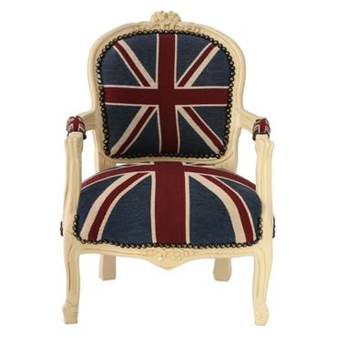 Office Chair Jack Union Beige denim child's chair perfect gift for any child – image 1