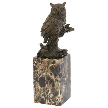 Bronze Owl Animal Representation purchase online for decorating and designing owl bronze figure – image 1