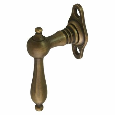 Old looking window handle brass patinized wood window  – image 3