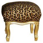 Kinder Schemel Barock Hocker leopard gold exotisch Afrika Polster chic 001