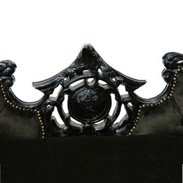 Beautiful All Black Baroque Sofa – image 5