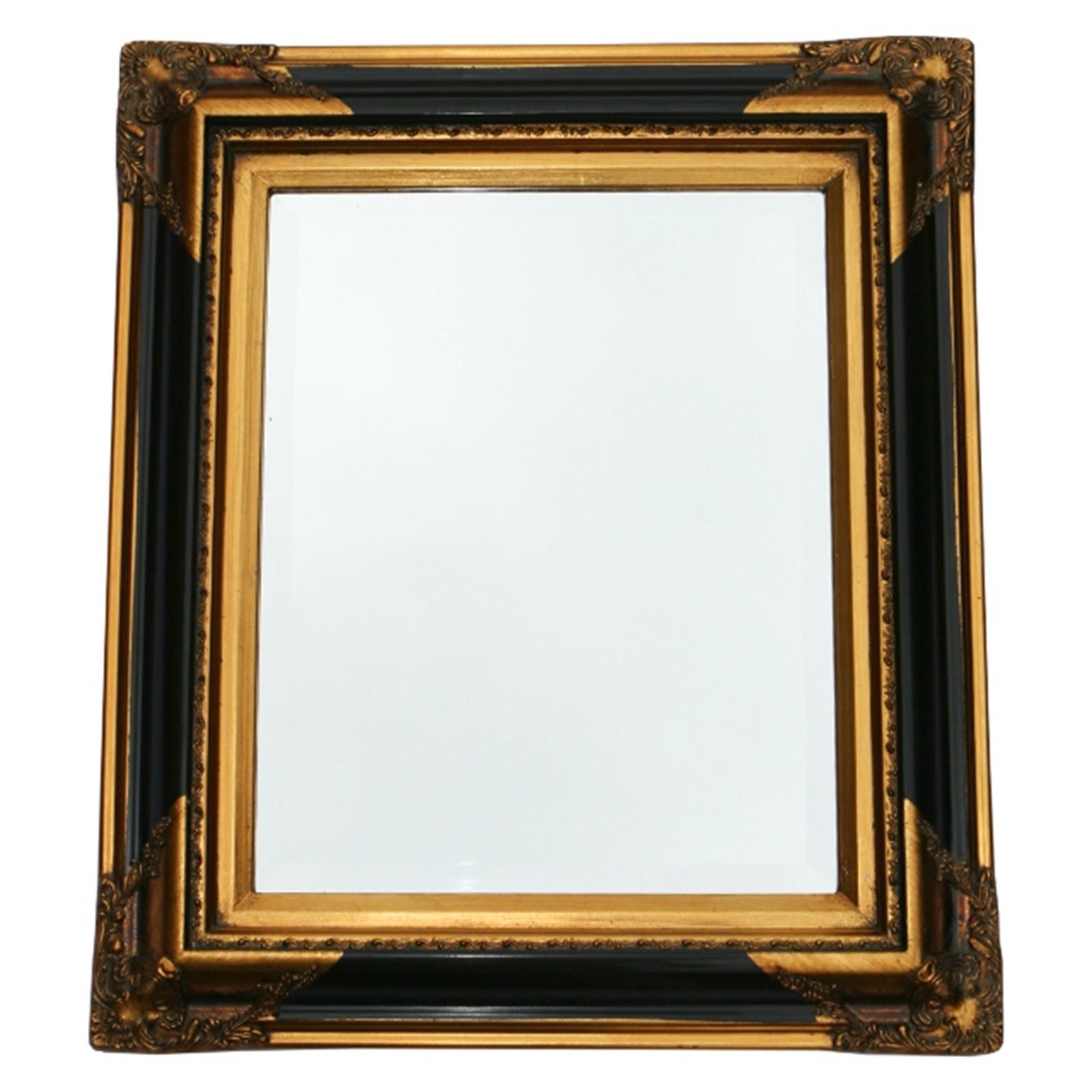 Kristallspiegel schwarz gold wandspiegel barock 50x60 for Kristallspiegel