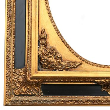 Baroque Wall Mirror Oval Ornate Frame 50x60/ 20x24 inches antique gold mirror black – image 2