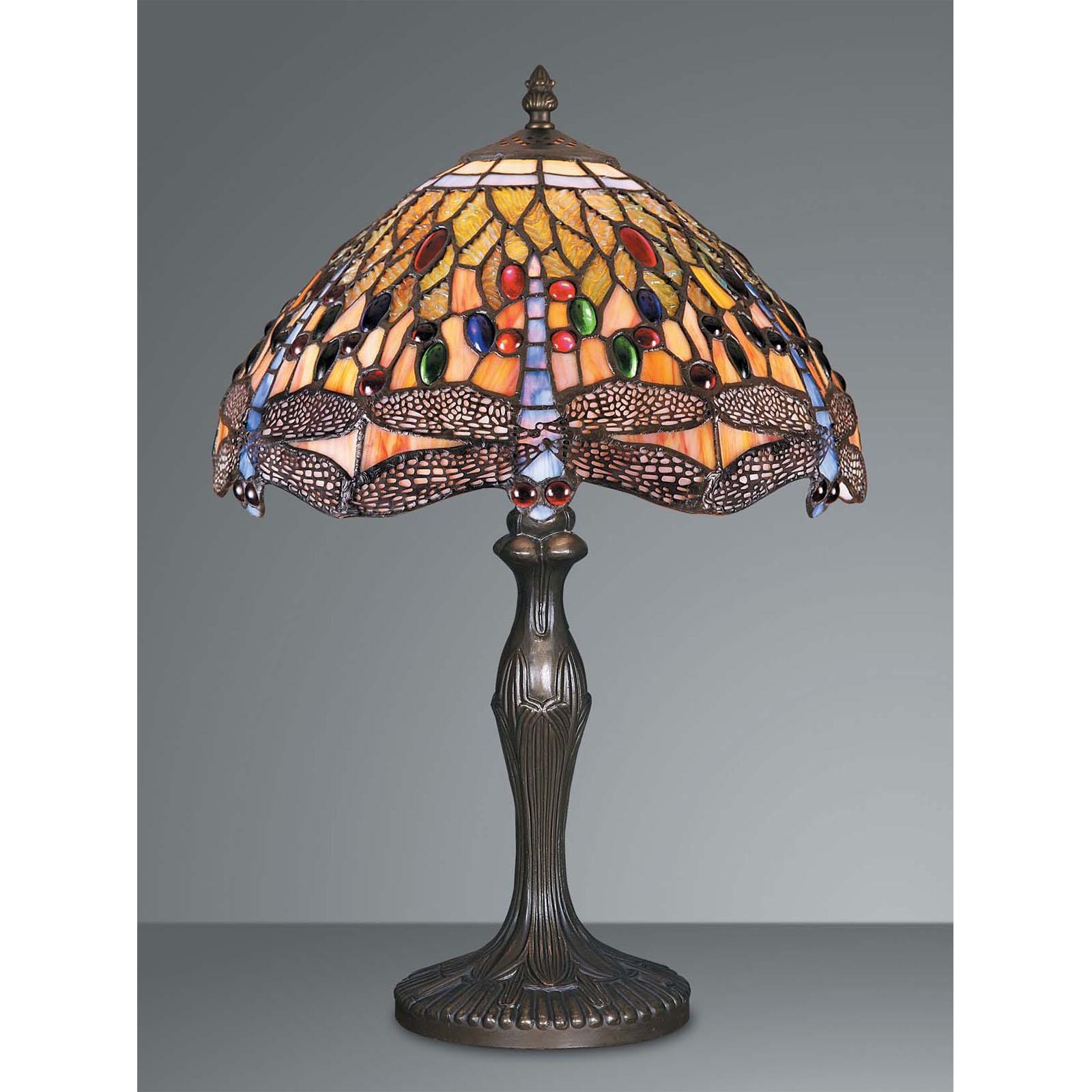 Tiffany Tischlampe Libellen Blau 47 5cm Bunte Lampe Glasperlen