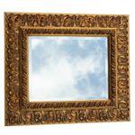 Romantik Barock Spiegel Kristall 50x60 Massivholzrahmen Badspiegel Wandspiegel 001