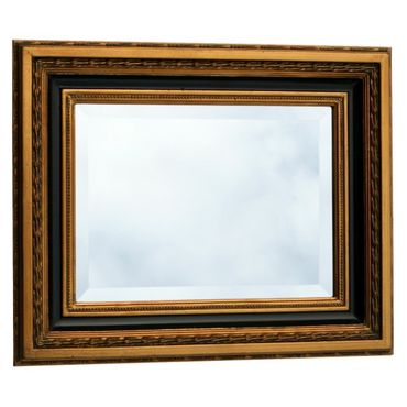 Gilded baroque crystal mirror wall mirror gold black baroque mirror 40x50cm/ 16x20 inches – image 1
