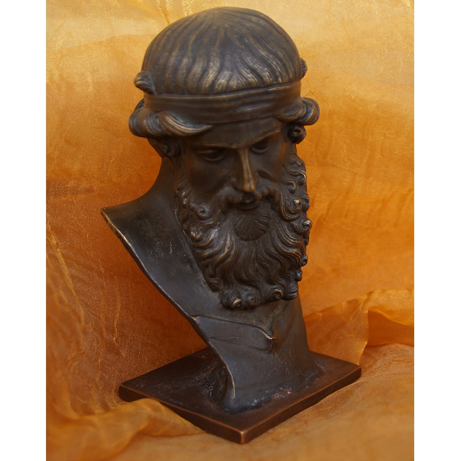 philosoph antike b ste aus bronze. Black Bedroom Furniture Sets. Home Design Ideas