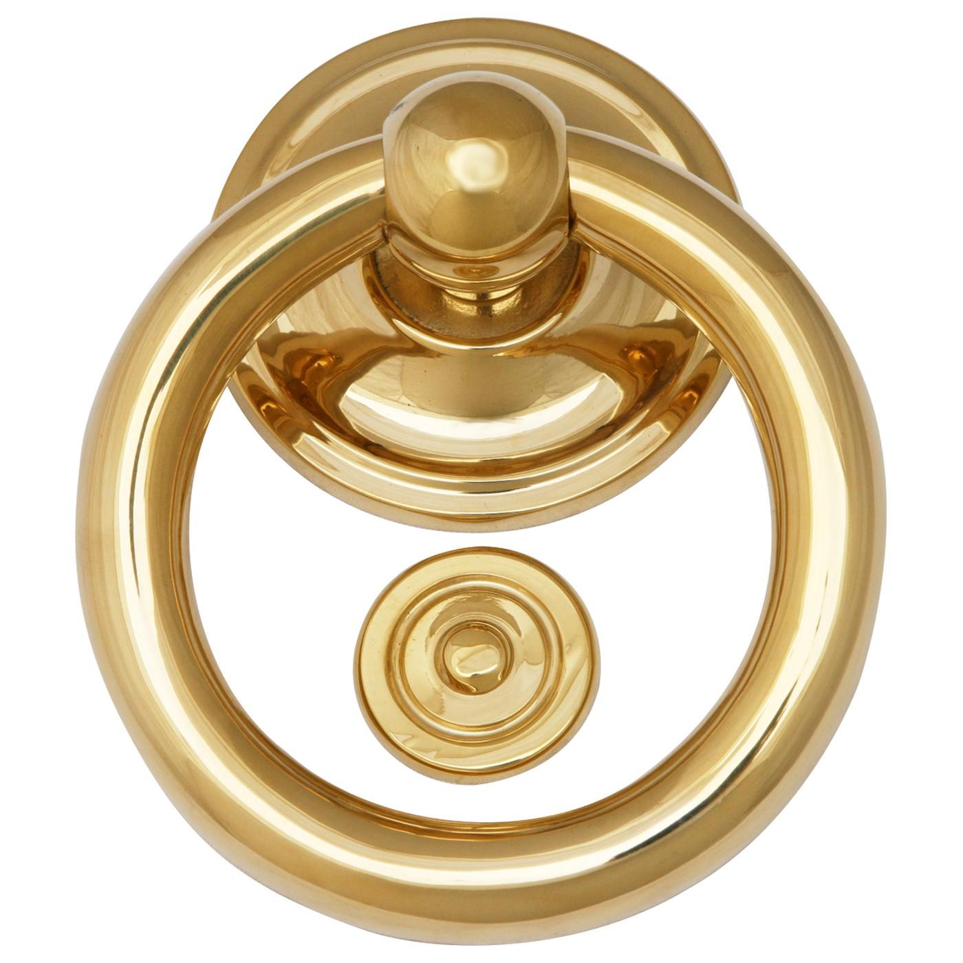 t rklingel manuell t rklopfer ring messing poliert klassisch t r ffner edel top. Black Bedroom Furniture Sets. Home Design Ideas
