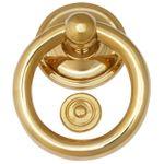 Polished brass doorknocker classic design bell manuel 001