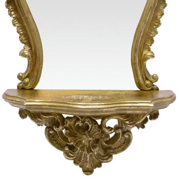 Beautiful Mirror with Shelf Vanity Gold Frame for Bathroom or Bedroom – image 3