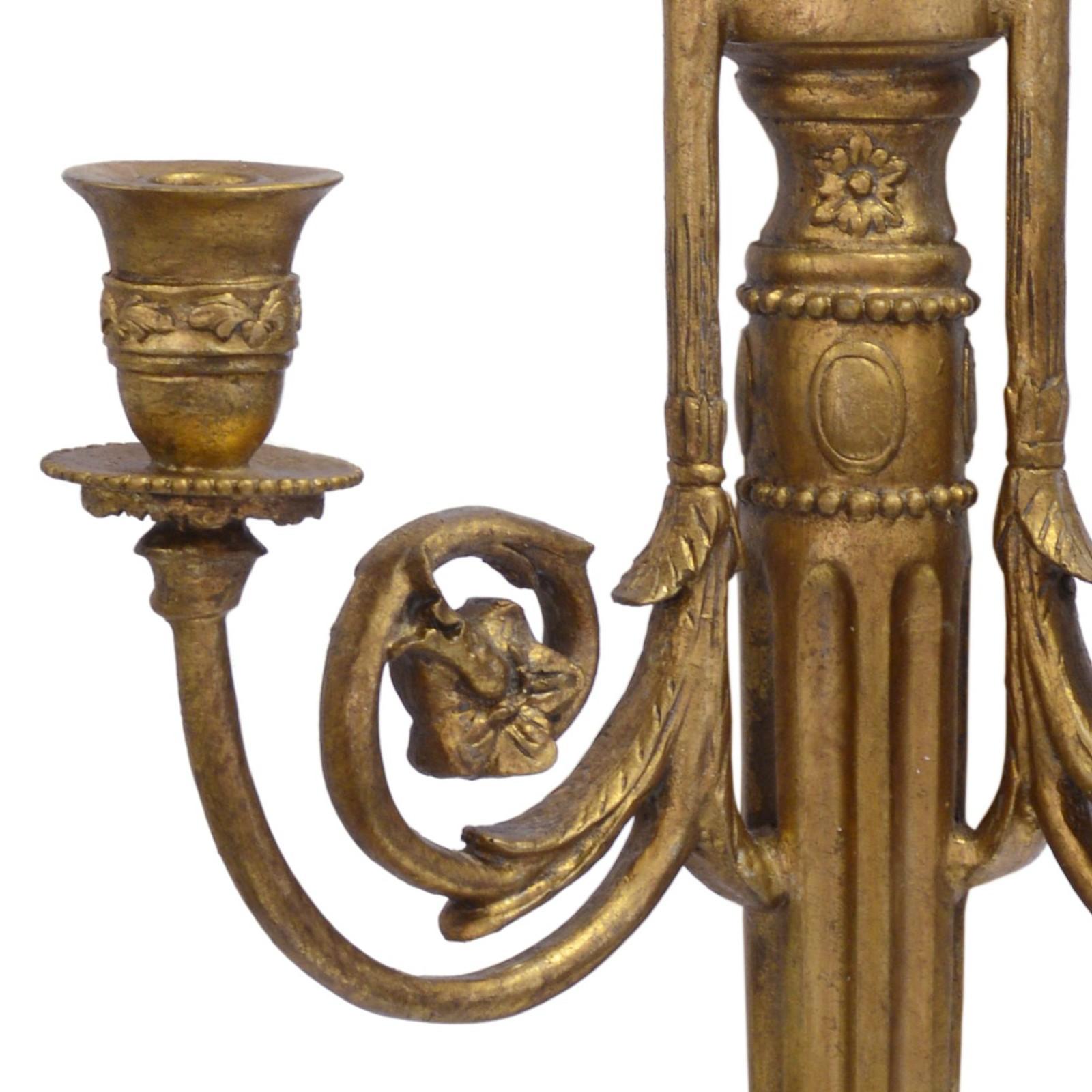 wandkerzenhalter vintage antik retro stil 2er set farbe gold kerzen halterung. Black Bedroom Furniture Sets. Home Design Ideas