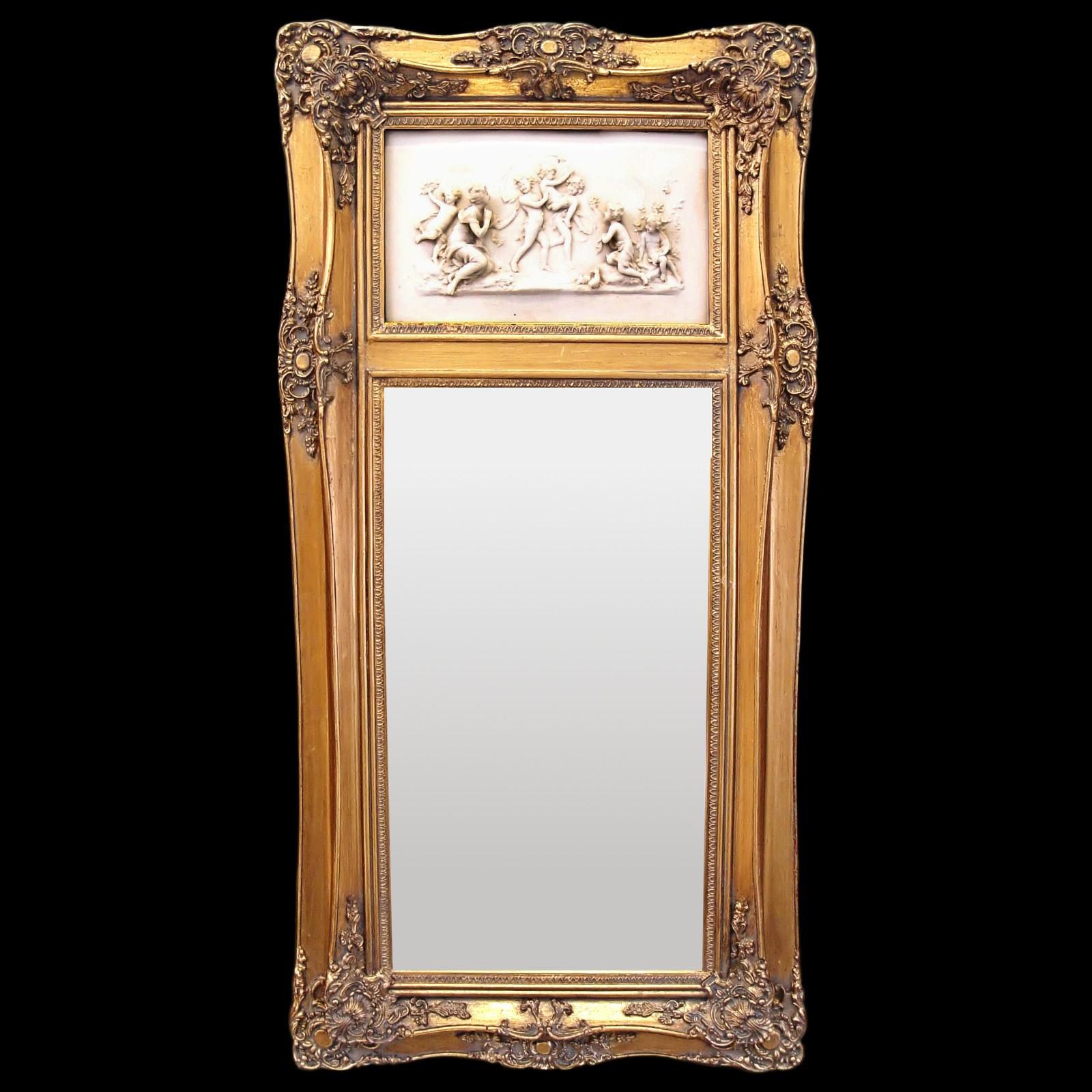 Higher Length Mirror Gold 3d Image Nostalgia Scene 2 Women Kids