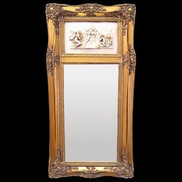 Higher-length mirror gold 3D image nostalgia Scene 2 Women Kids Vintage mirror – image 1