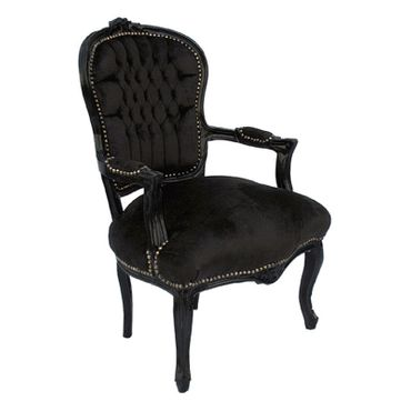 Chairs bedroom, side chair with glossy black frame in black    – image 2