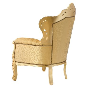 Special Edition, throne lovely gold floral pattern, gold-leafed solid wood frame – image 4