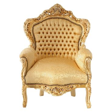 Special Edition, throne lovely gold floral pattern, gold-leafed solid wood frame – image 1