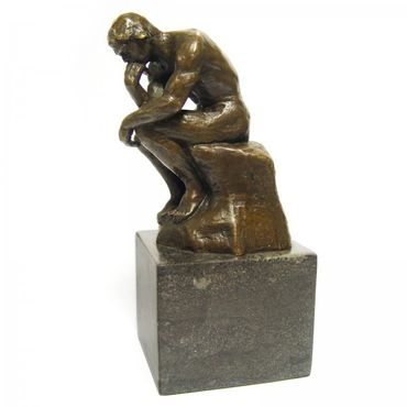 Art Repro Bronze THE THINKER bronze statue man the thinker collector's item