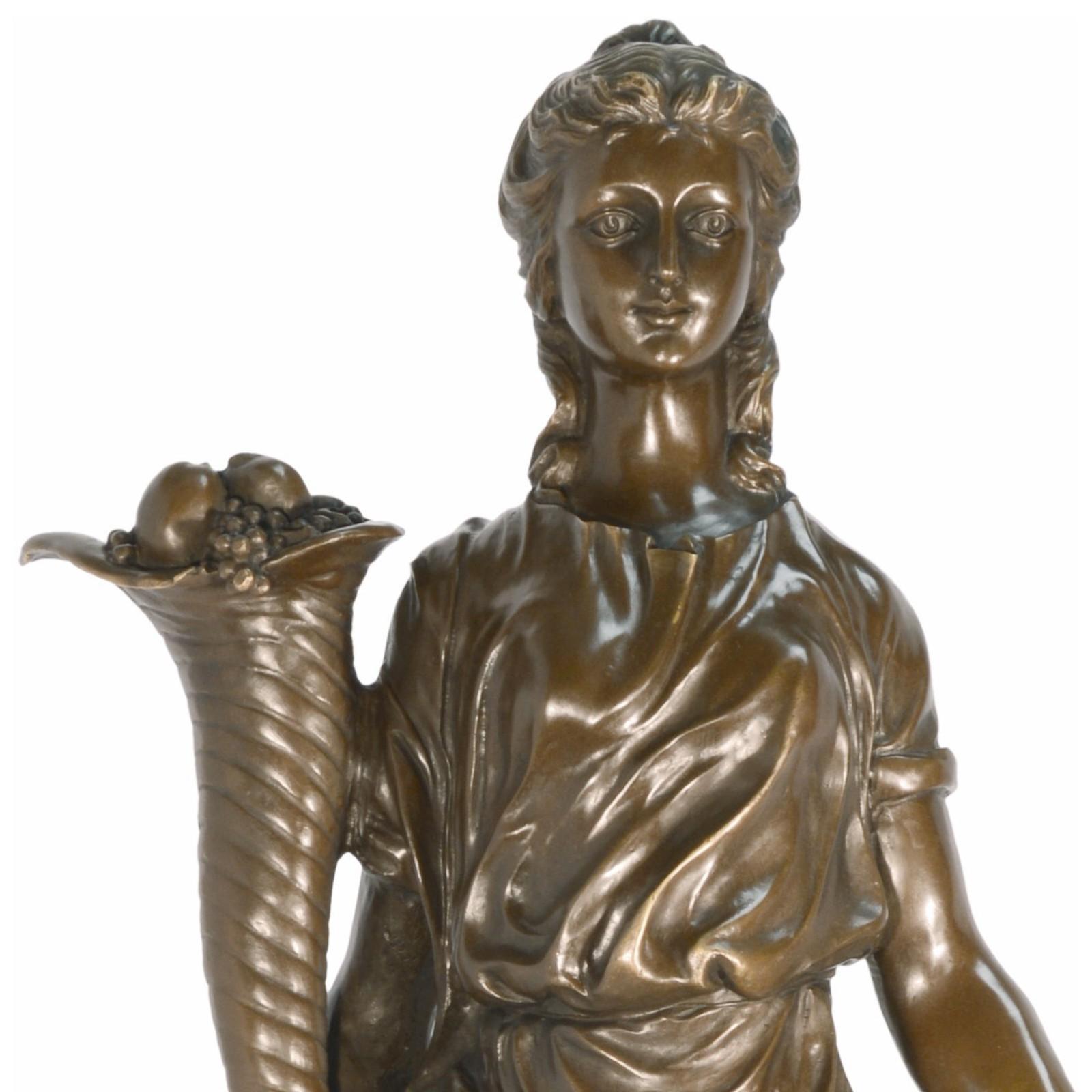 Sommer Bronze Skulptur griechische Göttin Frauen Bronzestatue 86cm ...