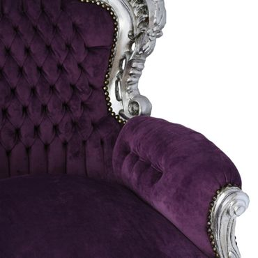 Purple Throne Louis XIV 14 silver-leafed French – image 5