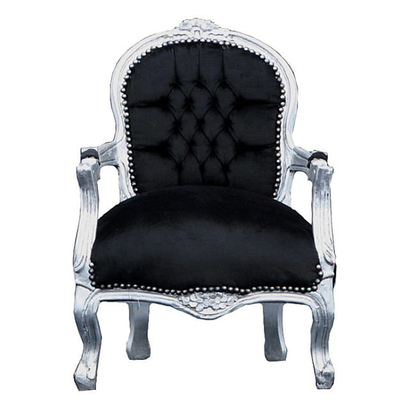 Superieur Kids Chairs, Elegant Silver Leafed Childu0027s Chair In Black, A Must Have!
