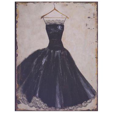 Lace dress black vintage retro design fashion wall decoration
