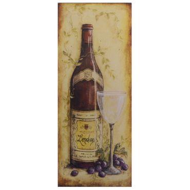 Redwine winebottle Bordeaux tin sign vintage retro design wall decoration