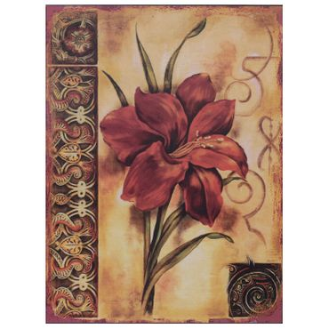 Garden flower red wall decoration vintage tin sign lovers