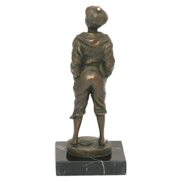 Whistling Boy Mad Man bronze statue of Music – image 5