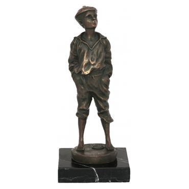Whistling Boy Mad Man bronze statue of Music – image 1
