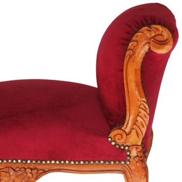Red solid wood bench seat in noble Baroque style – image 5