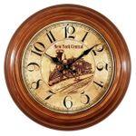 Metal wall clock nostalgic antique black digits New York Central  001