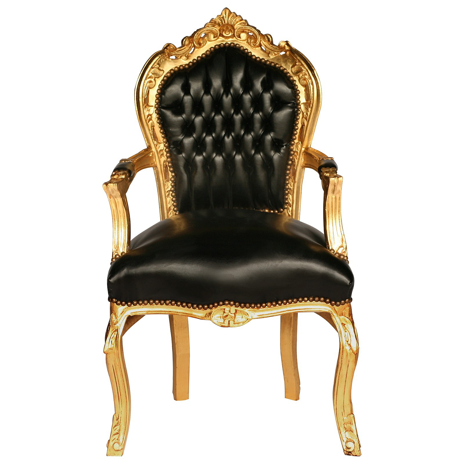 Superbe Black Carver Accent Dining Chair In Antique Baroque Furniture Style U2013 Bild 1