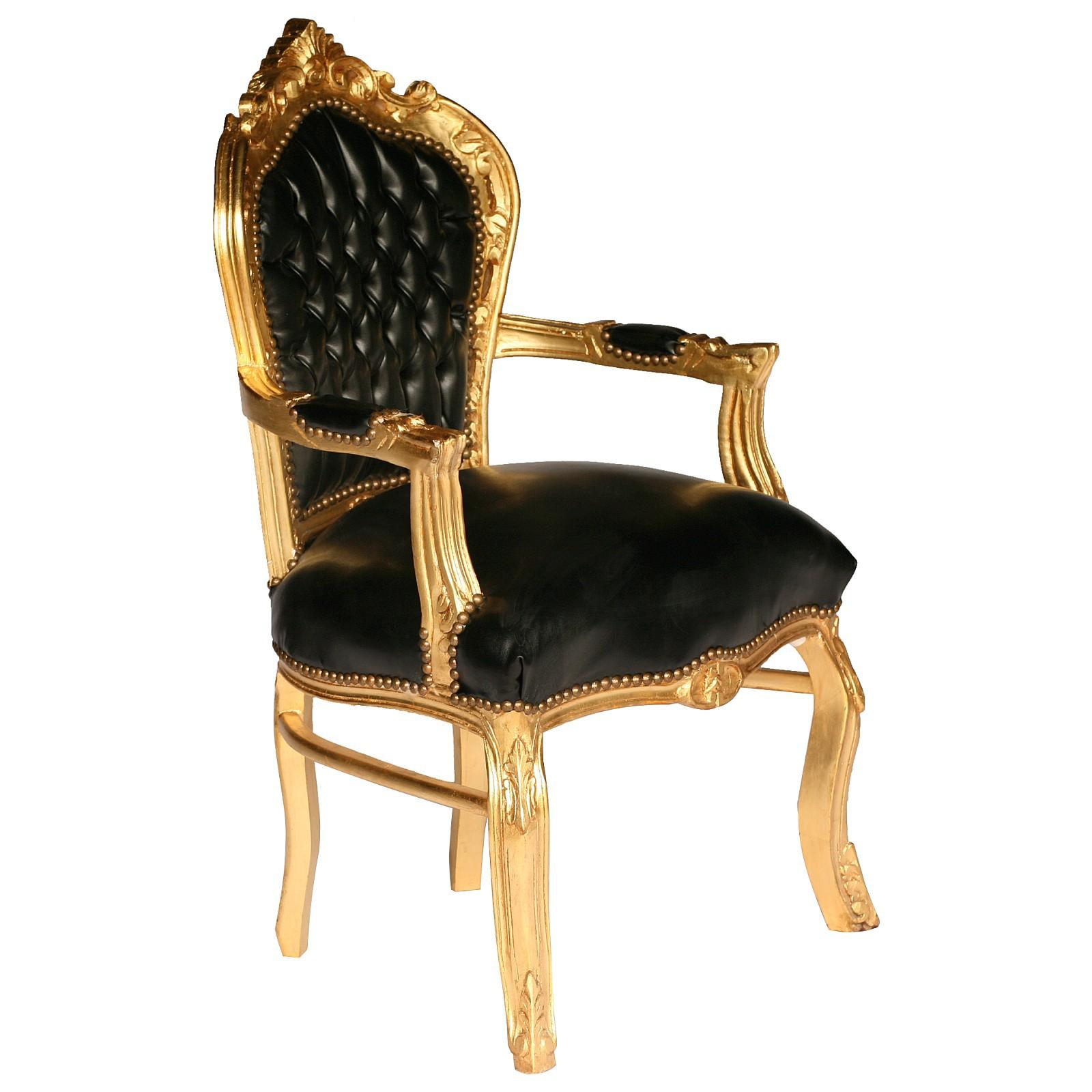 Black Carver Accent Dining Chair In Antique Baroque Furniture Style U2013 Bild 2