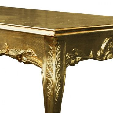 Table sumptuous golden dining room table in Antique Baroque style in gold – image 2