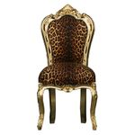 Salon Chair gold-leafed frame Leopard / African design 001