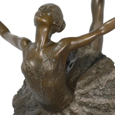 Ballet Dancer in Tutu in Bronze and Marble Base – image 2
