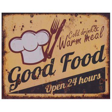 Advertisement GOOD FOOD restaurant 50s style shabby wall decoration retro nostalgic gift