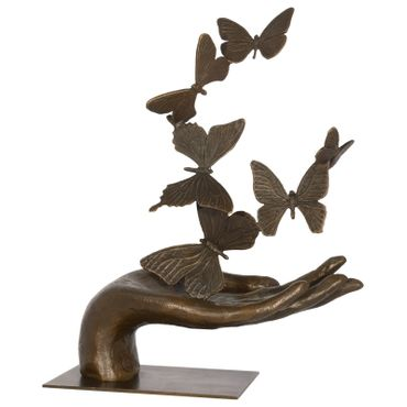 Art Deco Art Deco bronze figure hand Butterflies Butterflies sculpture 34 cm/ 13,38 inches – image 1