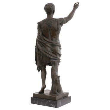 Male Roman soldier bronze statue soldier figure young man Sculpture Garden – image 3