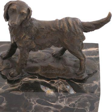 Bronze sculpture of dog spaniel dog figurines animal statue of marble artists Sig. – image 5