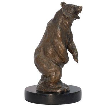 Bronze figurine bear brown bear standing animal sculpture figure statue Nature 35.5cm/ 13,97 inches – image 1