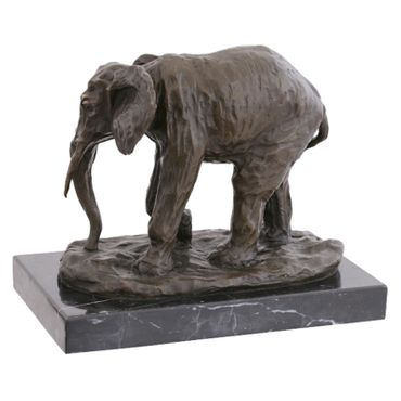 African Elephant Animal Representation bronze sculpture sculpture elephant statue garden – image 3