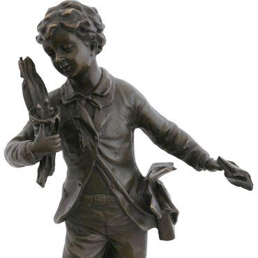 Bird's Nest boy bronze statue bird thief Repo Man bird sculpture decoration gift – image 5