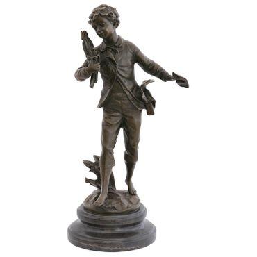 Bird's Nest boy bronze statue bird thief Repo Man bird sculpture decoration gift – image 1